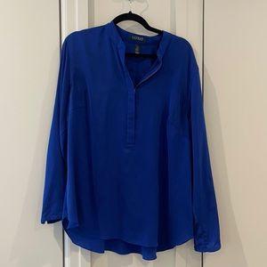 Blue Ralph Lauren long sleeve blouse